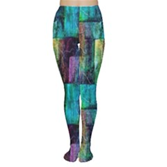 Abstract Square Wall Women s Tights