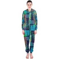 Abstract Square Wall Hooded Jumpsuit (Ladies)