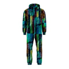 Abstract Square Wall Hooded Jumpsuit (kids)