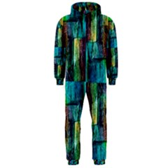 Abstract Square Wall Hooded Jumpsuit (Men)
