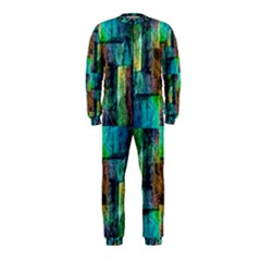 Abstract Square Wall Onepiece Jumpsuit (kids)