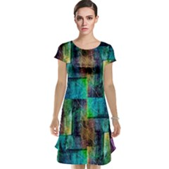 Abstract Square Wall Cap Sleeve Nightdresses