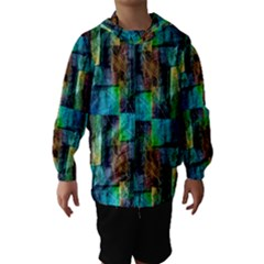 Abstract Square Wall Hooded Wind Breaker (Kids)