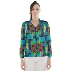Abstract Square Wall Wind Breaker (women)