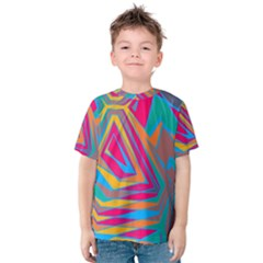 Distorted Shapes Kid s Cotton Tee