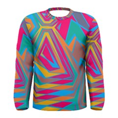 Distorted Shapes Men Long Sleeve T Shirt