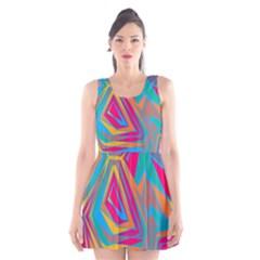 Distorted Shapes Scoop Neck Skater Dress