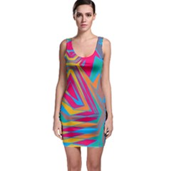 Distorted shapes Bodycon Dress