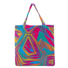 Distorted shapes Grocery Tote Bag