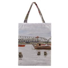 Boats At Santa Lucia River In Montevideo Uruguay Classic Tote Bags