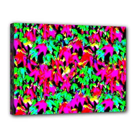 Colorful Leaves Canvas 16  X 12