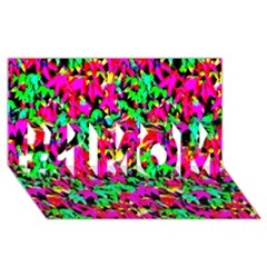 Colorful Leaves #1 Mom 3d Greeting Cards (8x4)