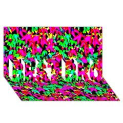 Colorful Leaves BEST BRO 3D Greeting Card (8x4)