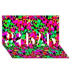 Colorful Leaves #1 Dad 3d Greeting Card (8x4)