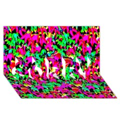 Colorful Leaves Sorry 3d Greeting Card (8x4)