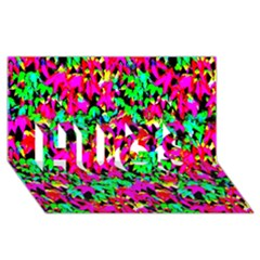 Colorful Leaves Hugs 3d Greeting Card (8x4)