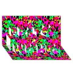Colorful Leaves Best Wish 3d Greeting Card (8x4)