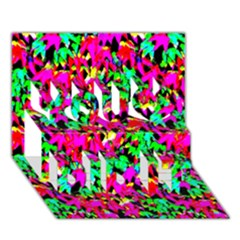 Colorful Leaves You Did It 3d Greeting Card (7x5)