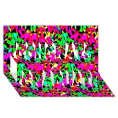 Colorful Leaves Congrats Graduate 3d Greeting Card (8x4)