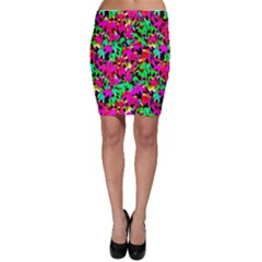 Colorful Leaves Bodycon Skirts