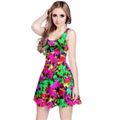 Colorful Leaves Reversible Sleeveless Dresses