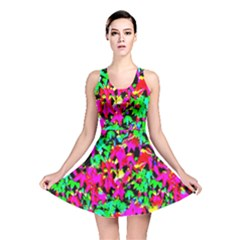 Colorful Leaves Reversible Skater Dresses