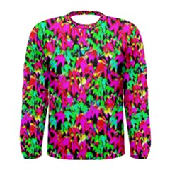 Colorful Leaves Men s Long Sleeve T Shirts