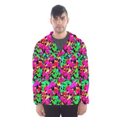 Colorful Leaves Hooded Wind Breaker (Men)