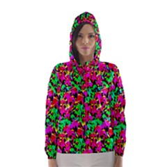 Colorful Leaves Hooded Wind Breaker (Women)