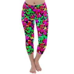 Colorful Leaves Capri Winter Leggings