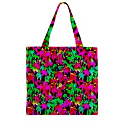 Colorful Leaves Zipper Grocery Tote Bags