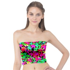 Colorful Leaves Women s Tube Tops