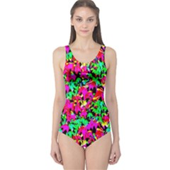 Colorful Leaves One Piece Swimsuit