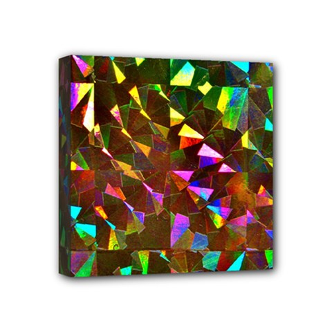 Cool Glitter Pattern Mini Canvas 4  X 4