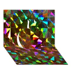 Cool Glitter Pattern Apple 3d Greeting Card (7x5)