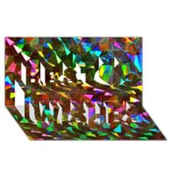 Cool Glitter Pattern Best Wish 3d Greeting Card (8x4)
