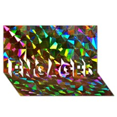 Cool Glitter Pattern Engaged 3d Greeting Card (8x4)