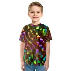 Cool Glitter Pattern Kid s Sport Mesh Tees
