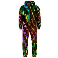 Cool Glitter Pattern Hooded Jumpsuit (men)