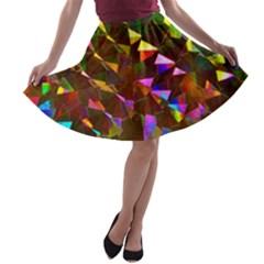 Cool Glitter Pattern A Line Skater Skirt