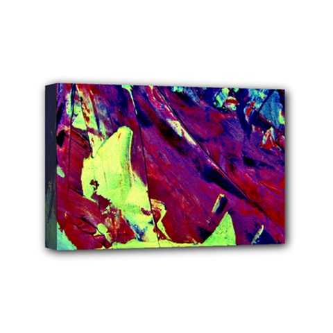 Abstract Painting Blue,yellow,red,green Mini Canvas 6  X 4