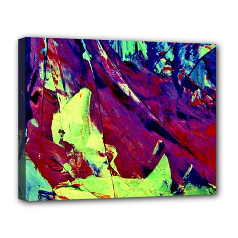 Abstract Painting Blue,Yellow,Red,Green Canvas 14  x 11