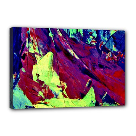 Abstract Painting Blue,Yellow,Red,Green Canvas 18  x 12