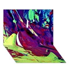 Abstract Painting Blue,Yellow,Red,Green Apple 3D Greeting Card (7x5)