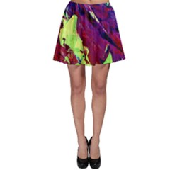 Abstract Painting Blue,yellow,red,green Skater Skirts