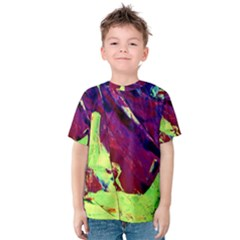 Abstract Painting Blue,yellow,red,green Kid s Cotton Tee