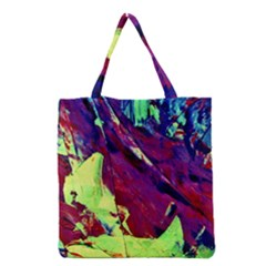 Abstract Painting Blue,Yellow,Red,Green Grocery Tote Bags
