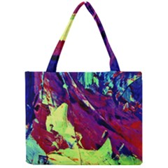 Abstract Painting Blue,Yellow,Red,Green Tiny Tote Bags