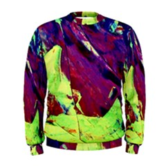 Abstract Painting Blue,Yellow,Red,Green Men s Sweatshirts
