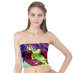 Abstract Painting Blue,Yellow,Red,Green Women s Tube Tops